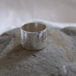 Star Wars Ring: Do or do not is hand stamped on a sterling silver ring